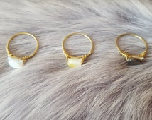 Cat Ring, Cat jewellery, Dainty rings, Crazy cat lady, Stacking rings, Mother of pearl rings, Minimalist rings, Midi ring, Dainty jewellery