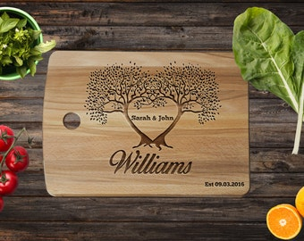 Wedding Cutting Board - Couple Cutting Board - Wedding Gift - Family Tree - Personalized Wedding - Anniversary Gift - Custom Engraved