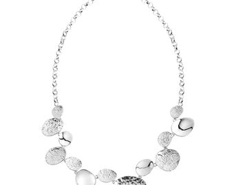Stepping Stone Sterling Silver Necklace