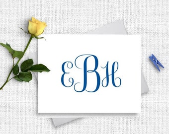 Personalized Monogram Stationery, Monogram Stationary, Personalized Stationery,  Monogram Note Cards, , Personalized Note Cards, MG15