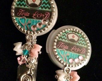 Pediatric/Labor & Delivery Badge Reel and Stethoscope ID  Set