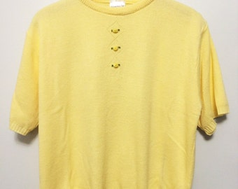 Vintage Lemon Cropped Jumper