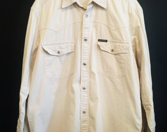 Vintage Cream Denim Shirt