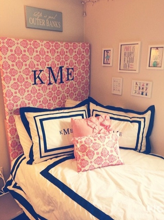 Items similar to Custom Monogrammed Dorm Room Headboard on  ~ 170956_Etsy Dorm Room Ideas