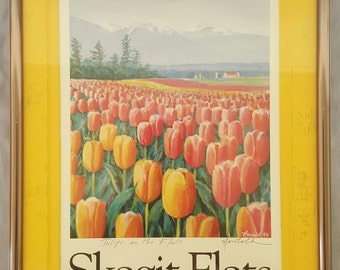 Tulips on Skagit Flats by Ed Newbold Signed Print