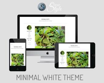 Minimal White ~ Responsive Tumblr Theme
