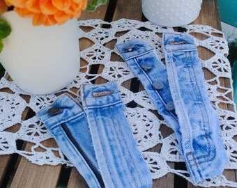 Denim Jean Zippers and button closures in assorted lengths