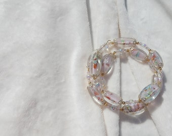 Vintage Pink Floral Bracelet