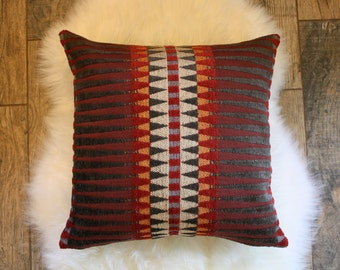 Tribal + Denim Pillow Cover