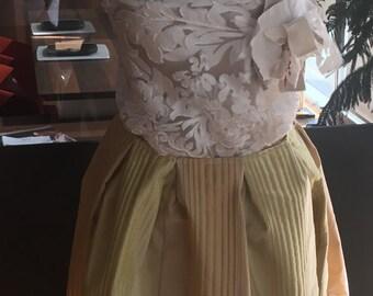 Soft pleats silk skirt