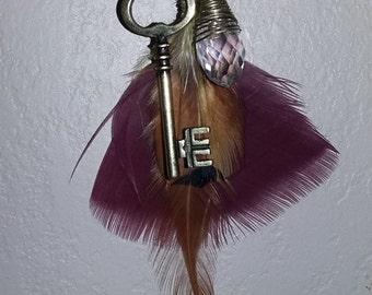 Key & Crystal on Maroon