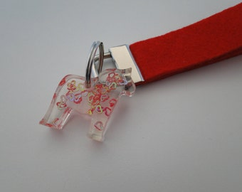 Key ring with dala horse