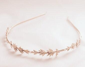 Rose Gold Goddess Bride Tiara,Greek Classic Style Tiara, Statement Head Piece, Bridal Shower Gift, Wedding Tiara, Rose Gold Bride Hair Piece