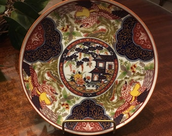 """6"""" - Imari Plate with house and garden"""