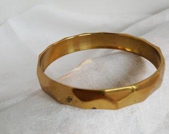 Vintage Hammered Brass Indian Bangle