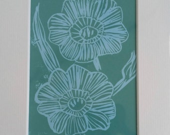 Original Linocut Print Nolana