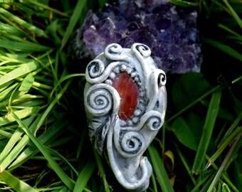 Carnelian Mystic Fleur Pendant