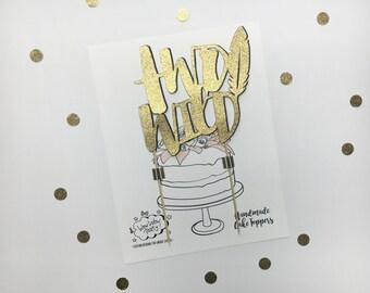 Two Wild Birthday Cake Topper, 2d Birthday Topper, Second Birthday Cake Topper, Boho Cake Topper, Tribal Cake Topper, Glitter Cake Tooper