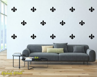 Damask Wall Decor Decals - Damask Decal Set - Damask Pattern Decals - Nursery room decor - Damask Wall Decals - Living room decor