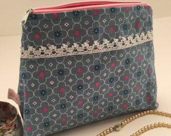 Cosmetic bag cosmetic bag makeup bag grey pink beauty