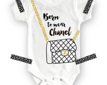 Funny Baby Onesie®, Baby Girl Clothes, Baby Girl Onesie, Funny Baby Clothes, Funny Baby Shirts, Chanel Baby Onesie, Funny Onesie, Baby Girl