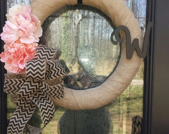 Burlap Wreath, Wreath, Home Decor Wreath, Burlap Home Decor, Door Wreath Burlap