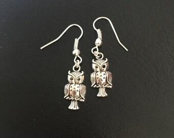 Owl Hanging Earrings