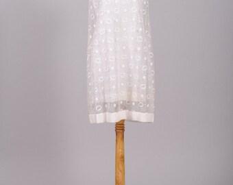 1960 Metallic Crepe Vintage Wedding Dress