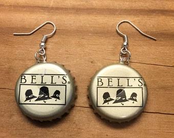 Bells Brewery Bottle Cap Earrings