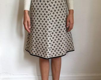 Vintage Knit A-Line Skirt