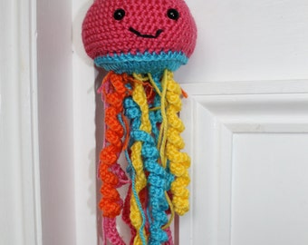 Jellyfish Door Hanger Crochet Sea Creatures