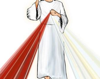 Divine Mercy Greeting Card- Blank Inside