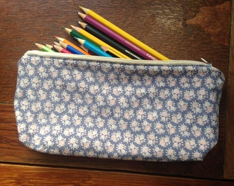 Handmade Purse Pencil Case Vintage & Upcycled Fabric