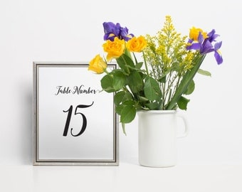 Whimsical Table Numbers, Wedding Table Numbers, Table Numbers Wedding, Script Table Numbers, Printable Table Numbers, Unique Table Numbers