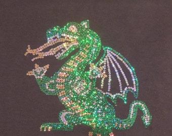 Sequins Dragon Shirt