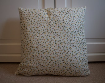 """16"""" handmade, decorative pillow, pillow cover, decorative pillow, cushion, decorative cushion cover, decorative yellow floral cushion"""