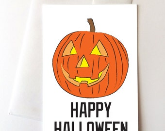 Jacko O Lantern Halloween Greeting Card