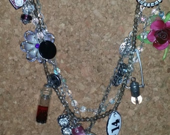 Assemblage Upcycled Mixed Media Bib Necklace
