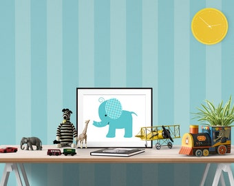Baby Elephant Nursery Print, Safari Animal Nursery, Nursery Art Prints, Printable Wall   Art, Jungle Nursery, Safari Theme Nursery