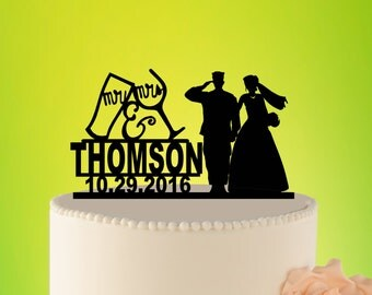 Military Wedding Cake Topper, Mr And Mrs, Wedding Cake Toppers Army, Custom Wedding Topper, Army  Wedding Topper, Military Topper L2-01-004