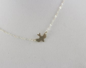 Sterling Silver Dove Bird Charm Necklace BP4013