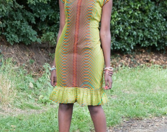 Ankara dress women, women's pencil dress, short dress, women's African print, African print wax, African fashion, made in Uganda