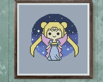Sailor Moon pixel cross stitch pattern BUY 2 GET 1 FREE sailor moon cross stitch pattern modern cross stitch pattern kids cross stitch chart