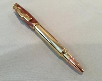 Multi-wood, bullet cartridge, twist ink pen
