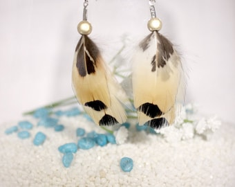 "Earrings feathers ""duo"""