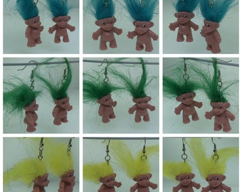 Troll Doll Earrings