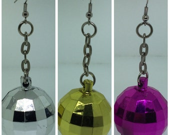 Mini Disco Ball Earrings