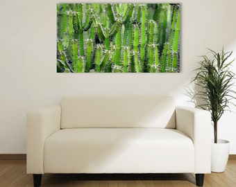 LARGE SIZE Cactus Print, Cactus Poster, / Large Poster / Big Poster / Large Print / Green Cactus / Cacti /