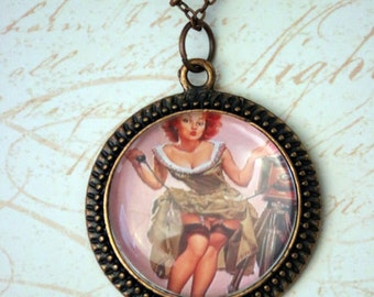Vintage Pin-Up Necklace