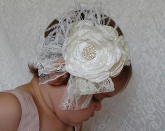 Ivory Headband Baby Headband Baby Girl Headband Newborn Headband Baby Shower Gift Girls Headband Girl Headband Baby/Baby Headbands and Bows